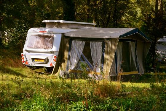 oude caravan natuur