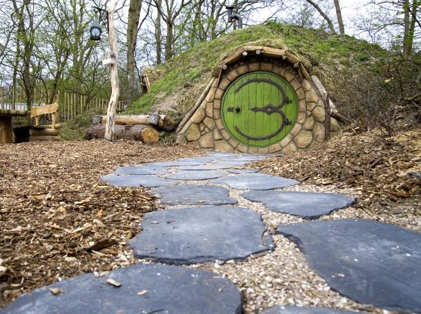 Hobbitwoning ingang