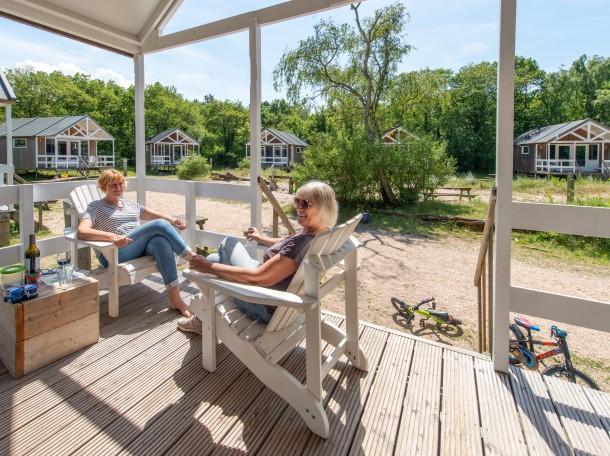 Strandhuisje veranda camping geversduin