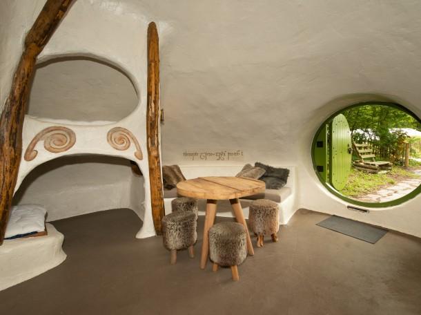 Hobbit hobbitwoning ingang camping geversduin